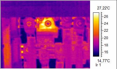 Thermofotographie einer Elektroanlage